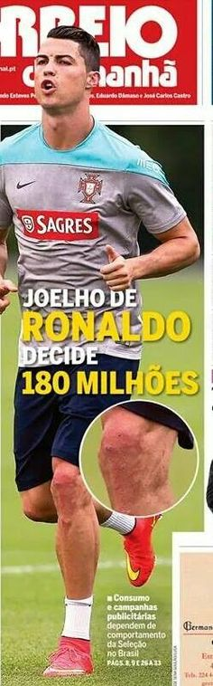 SPORTS And More: #CRonaldo knee looks scary, but still had a great ...