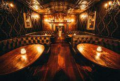 The 10 Best Speakeasy Bars in Dallas-Fort Worth - Thrillist Design Café, Lounge Design, Bar Lounge, Cafe Design, Design Ideas, Prohibition Bar, Speakeasy Decor, Pub Decor, Speakeasy Bar