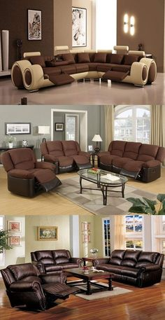 How to decorate a living room with brown furniture - http://interiordesign4.com/how-to-decorate-a-living-room-with-brown-furniture/