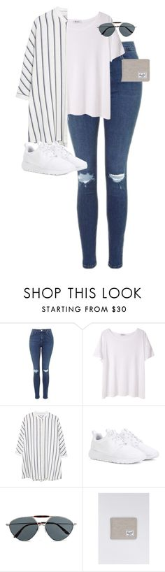 """""""Untitled #12517"""" by alexsrogers ❤ liked on Polyvore featuring Topshop, T By Alexander Wang, MANGO, NIKE, Valentino and Herschel"""