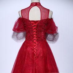 9f27b414 Mor af brudekjoler med perler snørebånd en linje høj halsformet kjole lang  nyankomst custom-made