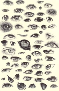 Eye Sketches by ~ShadowSeason
