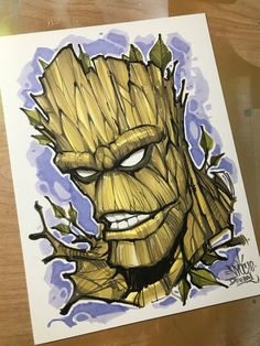 - ink, dye, marker on Smooth Bristol. Done at NYCC Ships to US only - allow two weeks for shipping. Sick Drawings, Demon Drawings, Easy Cartoon Drawings, Dope Cartoon Art, Drawing Superheroes, Marvel Drawings, Desenho New School, How To Draw Anime Eyes, Avengers Fan Art