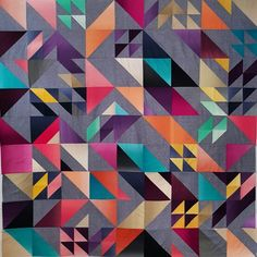 Rebel quilt-pattern by #Libselliott, fabric by V&Co ombre.