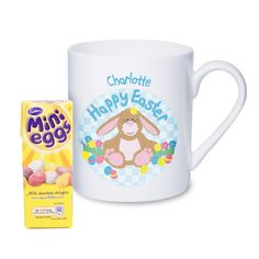 Personalised easter bunny card the hut market personalised gift personalised easter chick mug with chocolates perfect easter gift or present for little girl daughter granddaughter goddaughter sister niece friend negle Gallery
