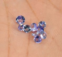2.10ct / 9pc Natural Violet Blue Tanzanite Faceted Loose Gemstone Wholesale Lot #krishnagemsnjewels