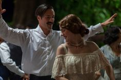 """""""Mikra Agglia,"""" a Greek film based on Karystiani's namesake novel (published by Kastaniotis in Greek and translated into English as """"The Jasmine. Lights Camera Action, Film Base, Folk Dance, Movie Costumes, Film Music Books, Series Movies, Movies To Watch, Olympics, Off Shoulder Blouse"""