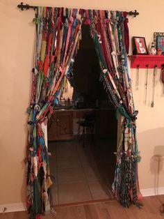 Gypsy Boho Hippie handmade curtains, colorful & fun!