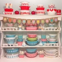 Made a cute little Easter garland for my #pyrex display. #spring #easter #easterdecor #springdecor