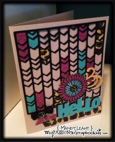 Twitter / MandyLeahy: Here's a card I made using ...