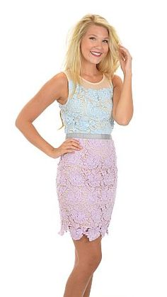 ShopBlueDoor.com: Lace dress with illusion neckline $64