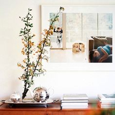 Vignette styled on console table