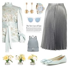 """Little bo peep blue"" by pensivepeacock ❤ liked on Polyvore featuring Hillier Bartley, J.W. Anderson, Miss Selfridge, NDI, Corum, Quay and MICHAEL Michael Kors"