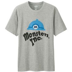 UNIQLO Disney/pixar Collection Graphic T-Shirt ($15) ❤ liked on Polyvore featuring men's fashion, men's clothing, men's shirts, men's t-shirts, grey, mens gray dress shirt, mens grey t shirt, mens graphic t shirts and mens grey shirt