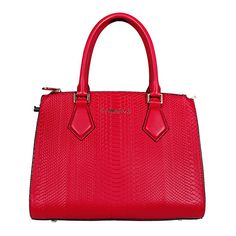 """Tom & Eva Jet Set Tasche Rot Diese wunderschöne Tasche erhalten Sie in einer schönen """"croco"""" Optik."""