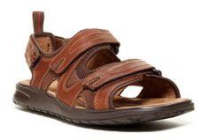 Clarks Caicos Sandal - Wide Width Men's US 13 W Brown Leather MSRP $120.00 #Clarks #Strap