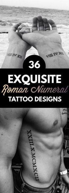 36 Exquisite Roman Numeral Tattoos Designs | TattooBlend