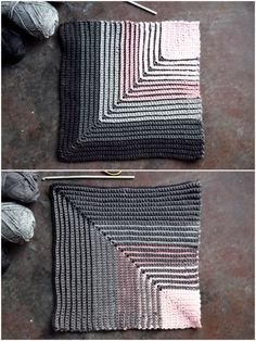 Ugens klud #5 - Diagonal hæklet karklud   Eponas dagbog Knitting Stiches, Knitting Patterns, Cotton Crochet, Knit Crochet, Crochet Potholders, Knitting Projects, Pot Holders, Diy And Crafts, Projects To Try