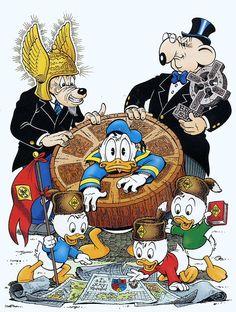 By Don rosa Disney Magic, Disney Art, Disney Pixar, Disney Characters, Disney Posters, Disney Cartoons, Don Rosa, Complex Art, Donald And Daisy Duck