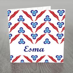Birth announcement card classic Ottoman Turkish by nhlcards