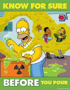 Simpsons safety posters can really come in handy while at work HQ photos)