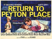 Return to Peyton Place (1961) starring Carol Lynley, Jeff Chandler, Eleanor Parker, Mary Astor, Robert Sterling and Tuesday Weld