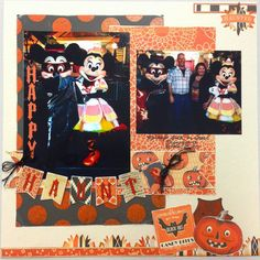 Plays Well With Paper:  Happy Haunts My Mind's Eye Halloween Layout