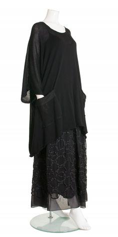 Barbara Speer Black Cotton Oversized Pullover