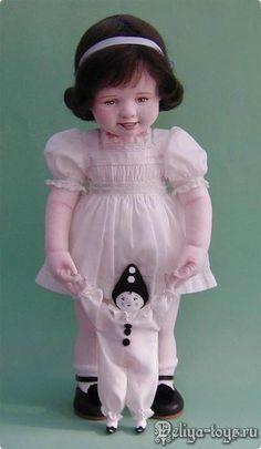 Teresa Churcher и её текстильные куклы. Felt Dolls, Baby Dolls, Collector Dolls, Fabric Dolls, Vintage Dolls, Beautiful Dolls, Hello Dolly, Doll Clothes, Flower Girl Dresses
