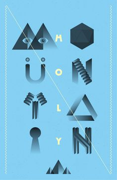 Holy Type by Miguel Aguilar, via Behance