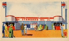 The Standard Oil Company exhibit. 1936 Great Lakes Exposition, Cleveland, Ohio