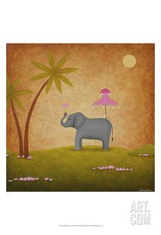April Showers Print by Shari Beaubien at Art.com