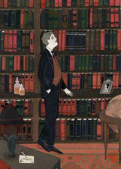 Yelena Bryksenkova's illustrations for Virginia Woolf 'Mrs Dalloway's party' Spanish edition