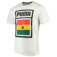 88fda93af Men s Puma White Ghana National Team Forever Football Country Cotton T-Shirt  Ghana