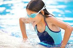 girl getting out of pool - Google Search