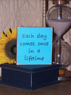 Home Decor Wood Sign, Shabby Cottage Chic, Modern Inspirational, Each Day Encouragement Quote, Shelf Signage, Encouraging Plaque via Etsy