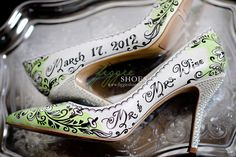 st patty's day wedding | Trisha M | Shamrock Damask St. Patrick's Day Wedding Heels | Flickr ...