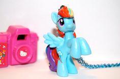 my little pony rainbow dash rave kawaii by chippednailpolish, $10.00