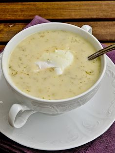 Pradobroty: Kulajda Czech Recipes, Healthy Side Dishes, Cheeseburger Chowder, Soup Recipes, Food And Drink, Veggies, Eat, Cooking, Kitchen