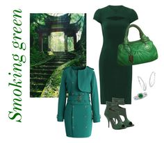 """""""Smoking green"""" by julie-lg on Polyvore featuring BERRICLE, Narciso Rodriguez, Max Studio, Chicwish, Palm Beach Jewelry and Marc Jacobs"""