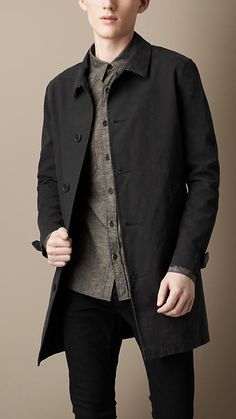 Burberry Brit Brushed Cotton Military Coat
