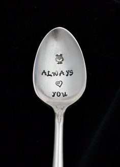 Stamped Spoon Hand Stamped Silverwaree Owl by TheSilverwearShop, $12.00 https://www.facebook.com/NKsilverwear