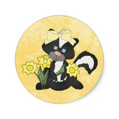 Easter Skunk sticker