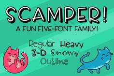 Scamper - a five-font family by missy.meyer on @creativemarket