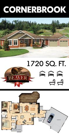 Welcome to the Cornerbrook - a sprawling bungalow with 1720 square feet of open concept design. #BeaverHomesandCottages
