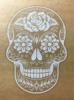 Sugar Skull Version 38 Day of the Dead Vinyl Wall Home Decor Car Window Decal Bumper Sticker – OSMdecals