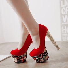 m.lovelywholesale.com wholesale-stylish+round+closed+toe+shallow+mouth+design+platform+chunky+super+high+heel+red+pu+basic+pumps-g145424.html