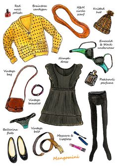 What i wore today 29-1-2012 illustration by Mangomini