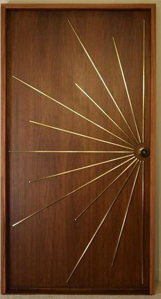 Modernist Ray Single Entry Door Built to Order For Sale on – Model HNRWEFS Made to order by History Never Repeats LLC. Designed by Aaron Saxton & Maria Armada. Custom produced and size can be varied for each order Modern Wooden Doors, Wooden Main Door Design, Single Door Design, Door Design Interior, Home Room Design, Bedroom Door Design, Interior Office, Modern Interior Doors, Exterior Design