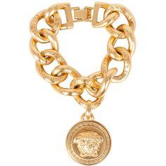 Versace Medusa bangle (10 370 ZAR) ❤ liked on Polyvore featuring jewelry, bracelets, oro, versace jewelry, bangle jewelry, bangle bracelet, hinged bracelet and versace jewellery